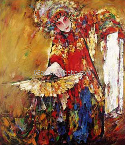 Amazing Beijing Opera actor oil painting on canvas