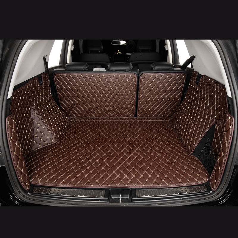 80KHz leather trunk mat irregular carpet car interior accessories pvc for construction machinery
