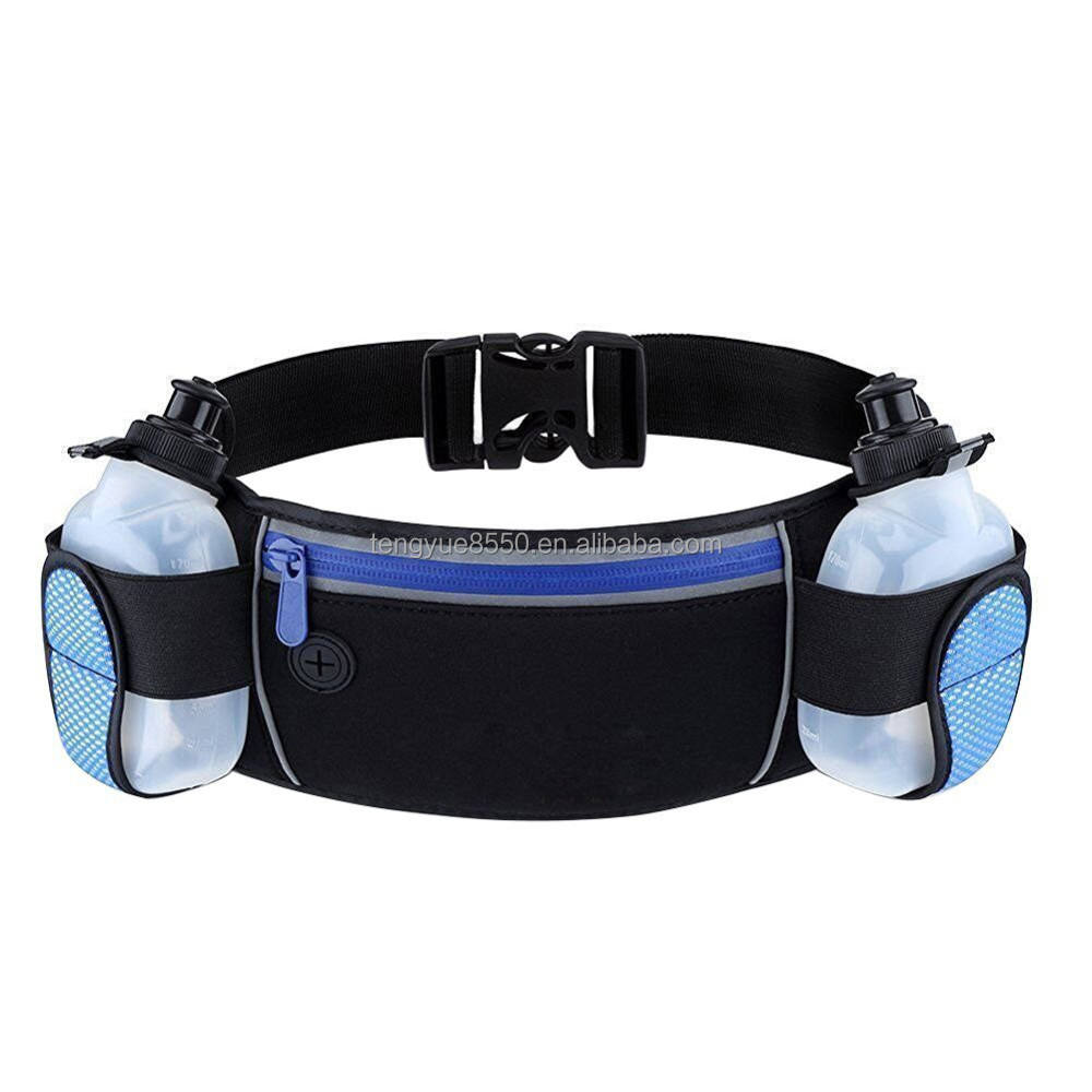 Custom Runners Running Hydration Belt Pack Waist Bag with Water Bottle Holder