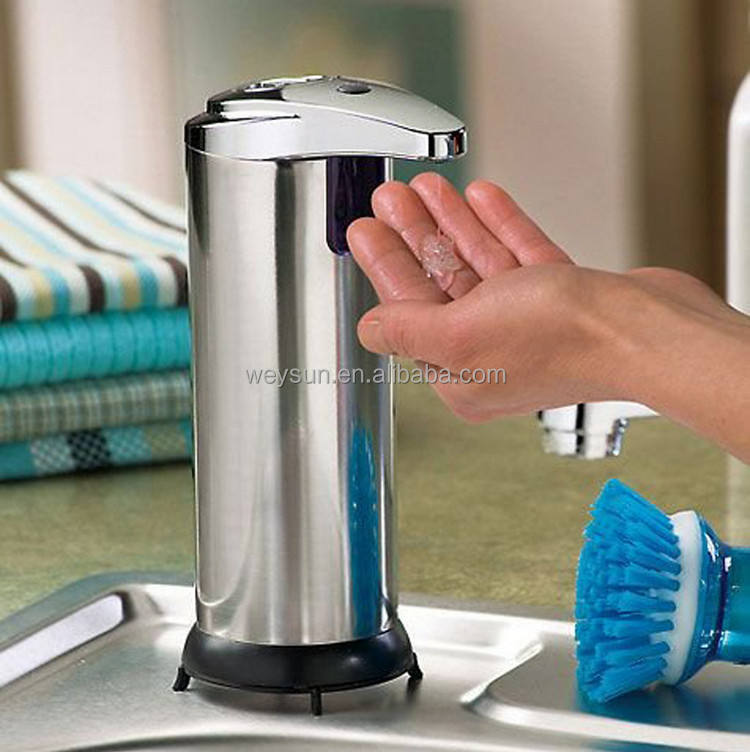 Acero inoxidable del sensor <span class=keywords><strong>de</strong></span> touchless SOAP dispenser y hand sanitizer