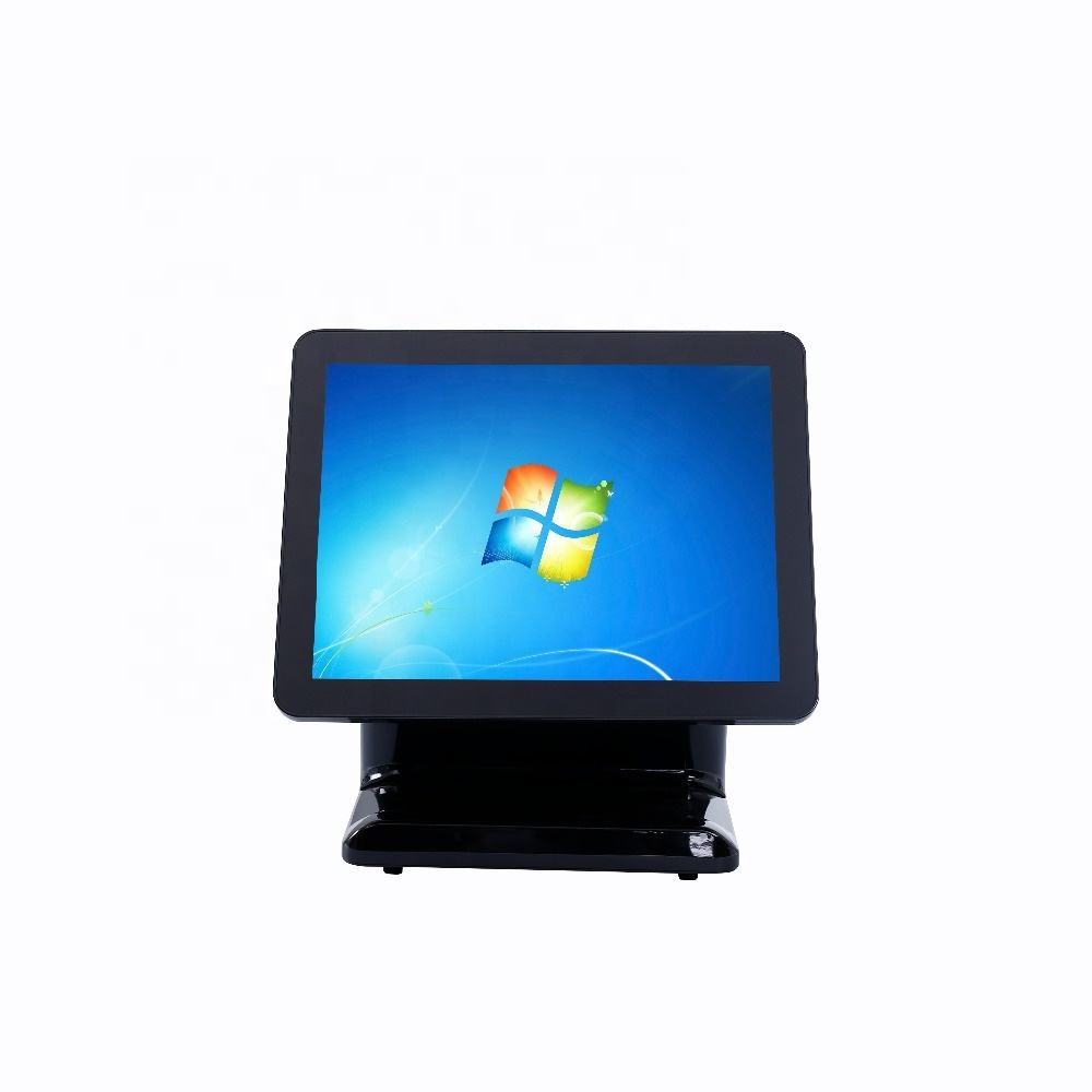 "15"" touch screen cash register operating windows pos system"