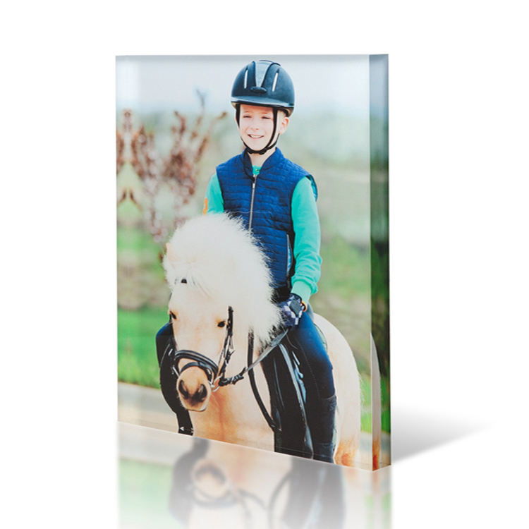 Best quality cheapest price 20mm clear printed acrylic photo frame block