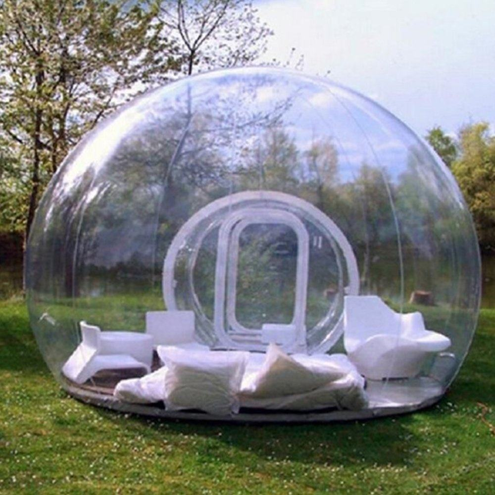 Transparent inflatable bubble dome tent clear PVC bubble outdoor tent with cheap price