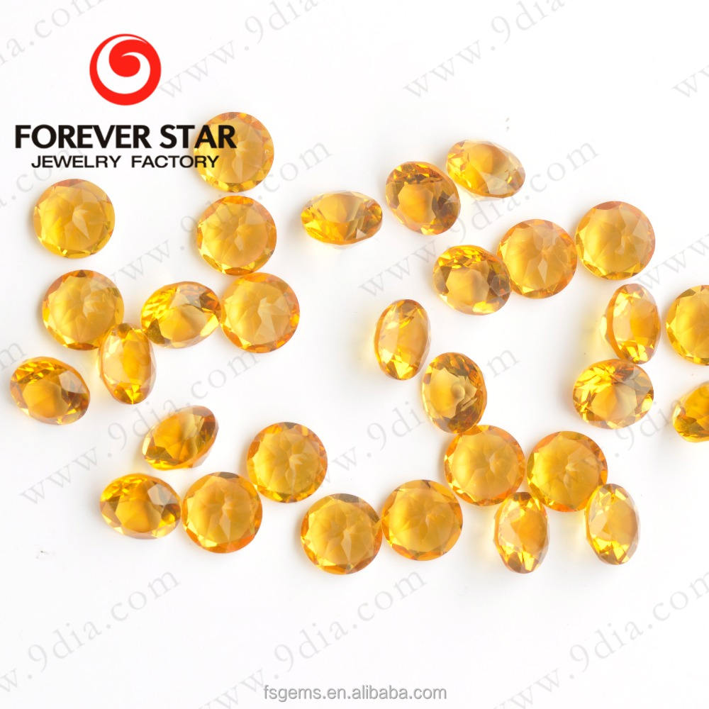 High Quality Crystal Natural Citrine Round 7mm Size for Jewelry Making