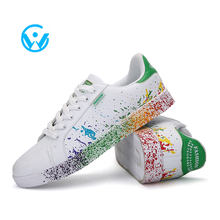 Jinjiang suppliers sport shoe  Men's printed  sneakers colorful board shoes  wholesale casual shoe