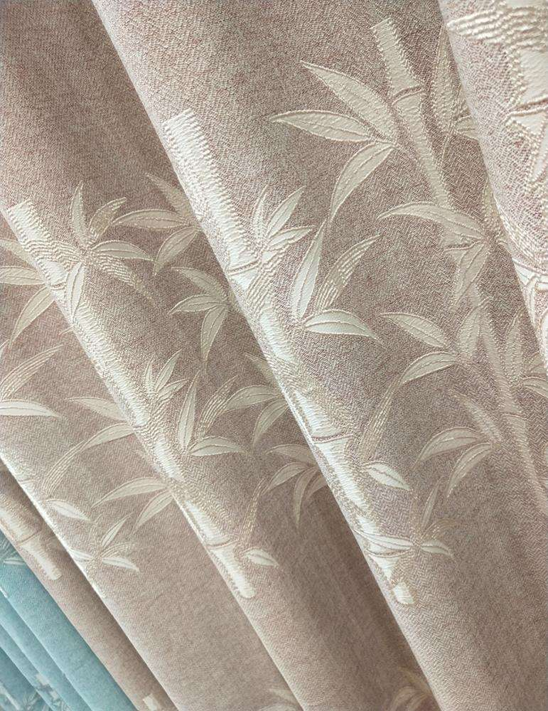 Facoty wholesale Latest Blackout Jacquard Bamboo Cotton Fabric Curtain