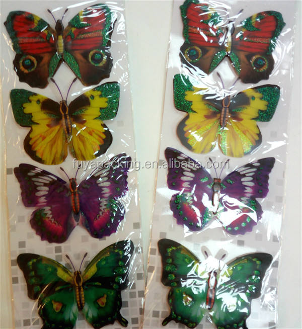 Wholesale good design 3D butterfly wall sticker home decor poster for kids rooms stickers