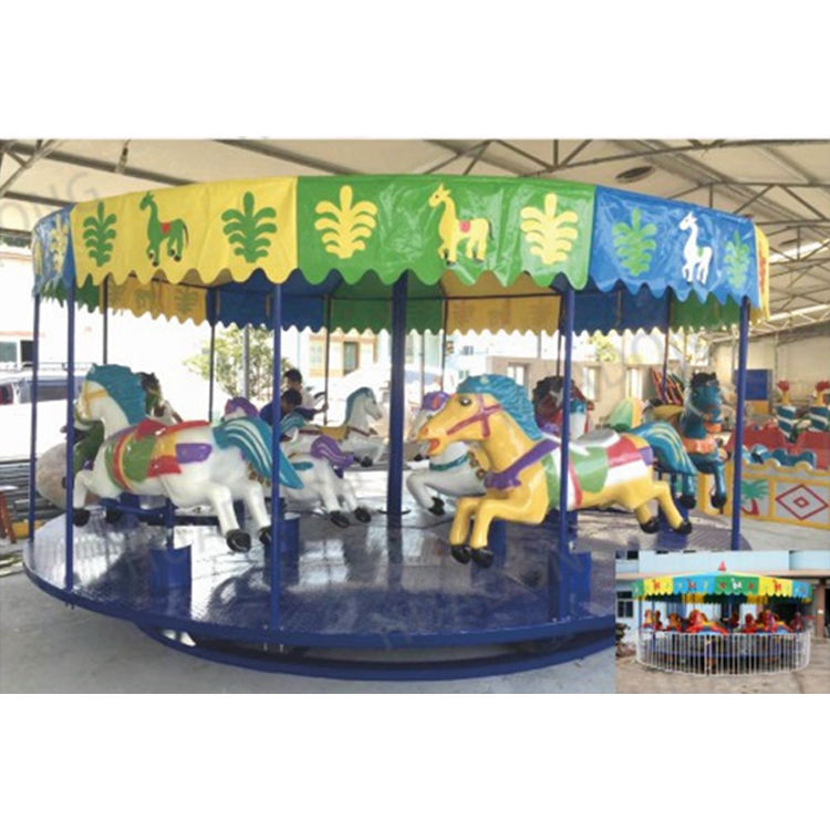 New Popular Kids Commercial children revolve toy carousel horses Rides Electrical Merry Go Round