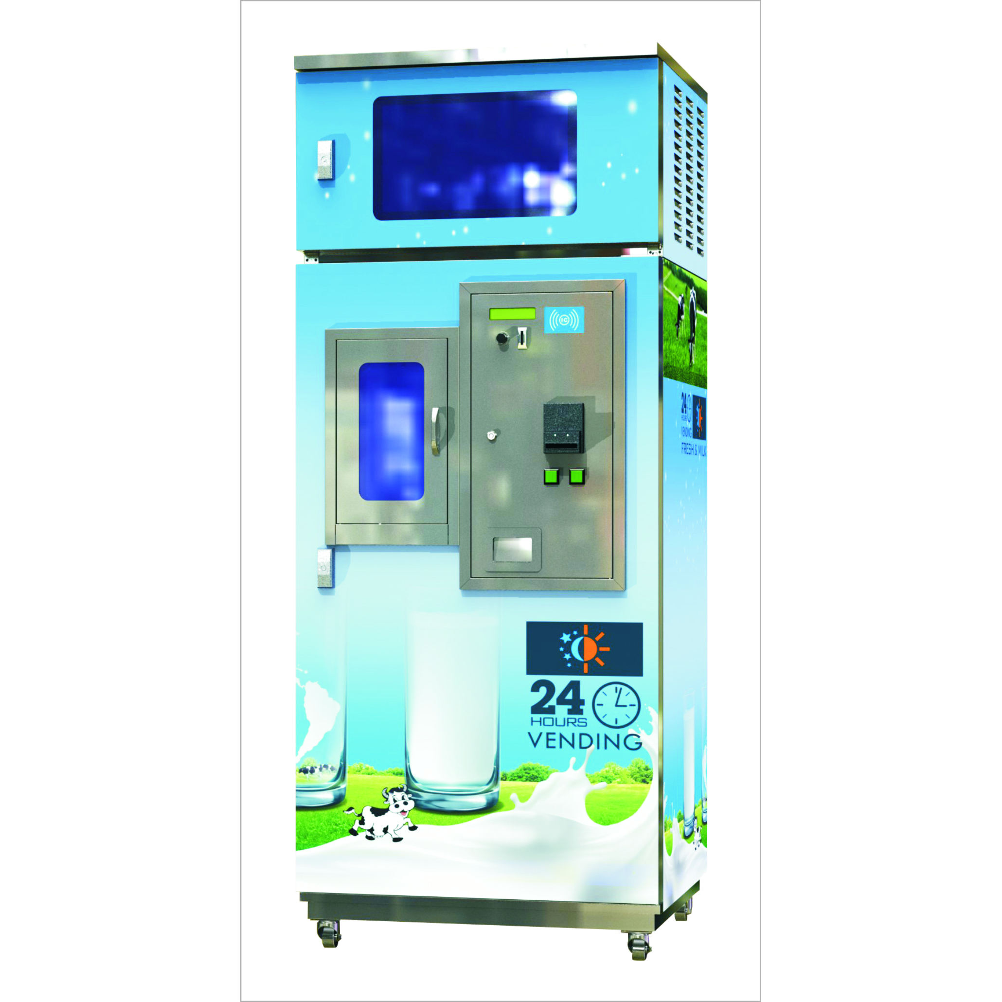 24 Hours Automatic Self-Service Vending Machine for Fresh Milk with GSM remote controller