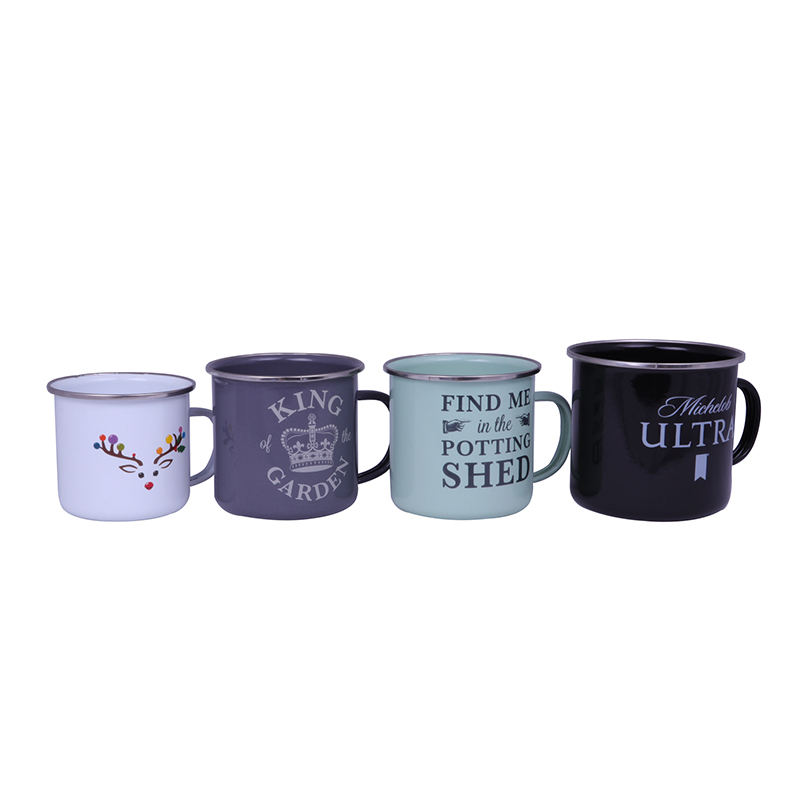 Metal stainless steel travel coffee camping enamel mug cup