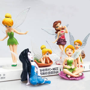 Princess Fairy action figure toy cake topper birthday toy kid plastic cake topper wholesale toy supplier
