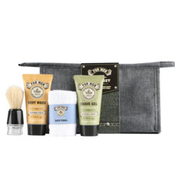 best price face wash man care gift set for 100% nature beard oil
