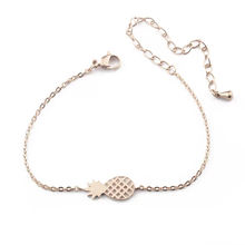 Minimalist Stainless Steel Pineapple Charm Bracelet Chain Girls For Friendship
