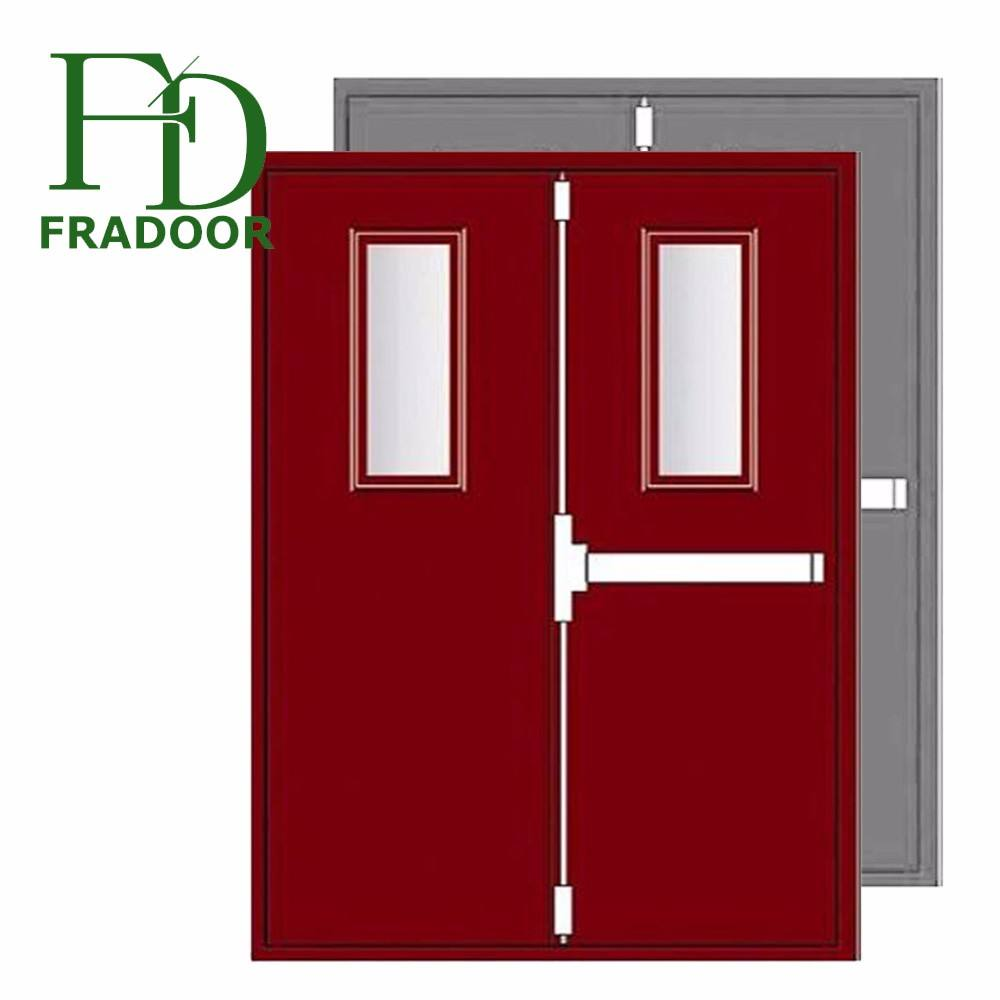 Commercial Fireproof Double Steel Door Emergency Exit Made in China