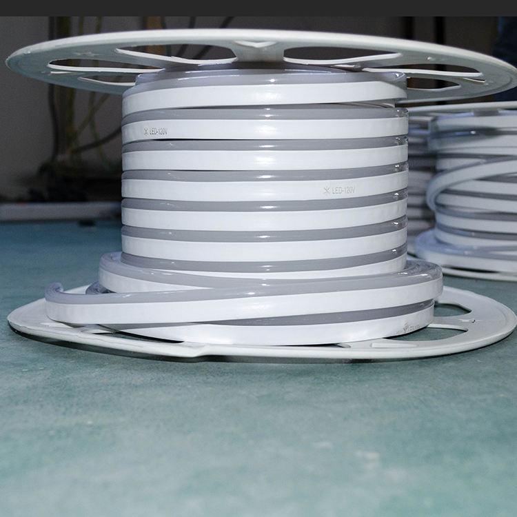 フレックスledネオン管ロープライト、50メートルsmd2835 dc12vダブルサイドライトネオンフレックスlgith用ホリデーバレンタイン装飾照明