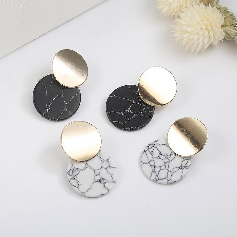 URUHR lloy Turquoise Earrings Metal Texture Female Earrings Creative Birthday Gifts