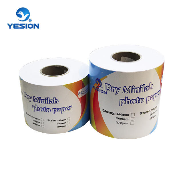 Quality Dry Mini Lab Inkjet Photo Paper For Epson Surelab D700 Paper Lab