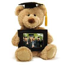 Graduation stuff teddy bear with graduate & gown custom stuffed toy