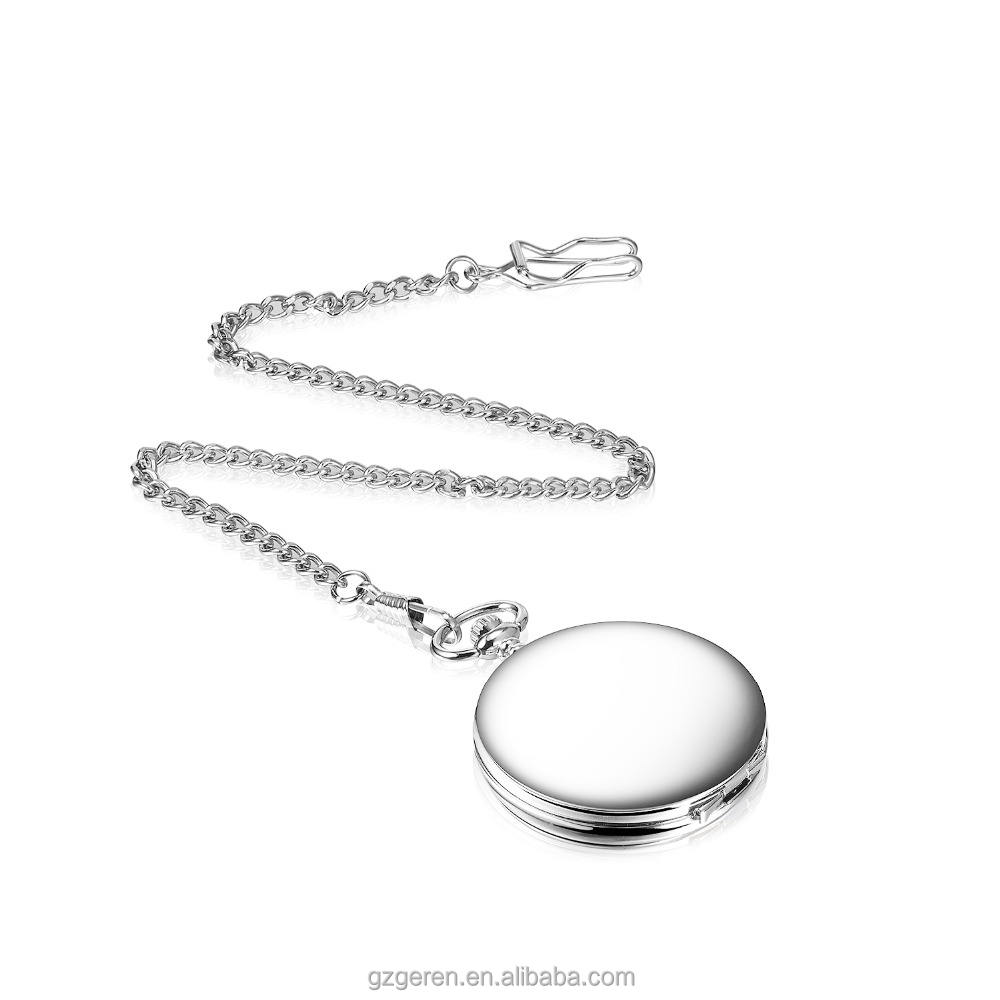 Free sample classical 40mm diameter antique blank case OEM quartz pocket watch with high quality