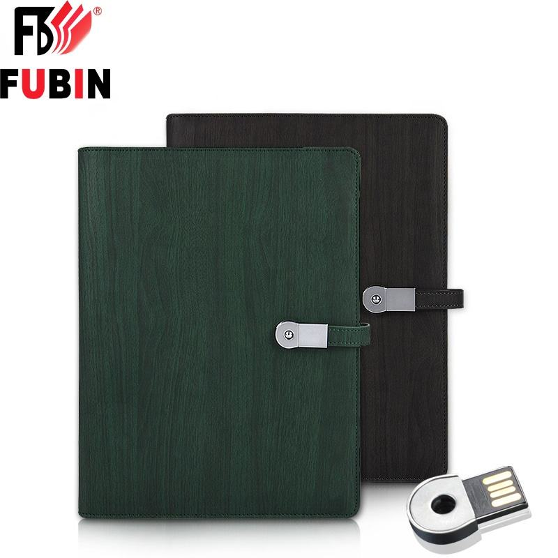 2019 diary agenda notebook paper A5 power bank notebook USB leather notebook