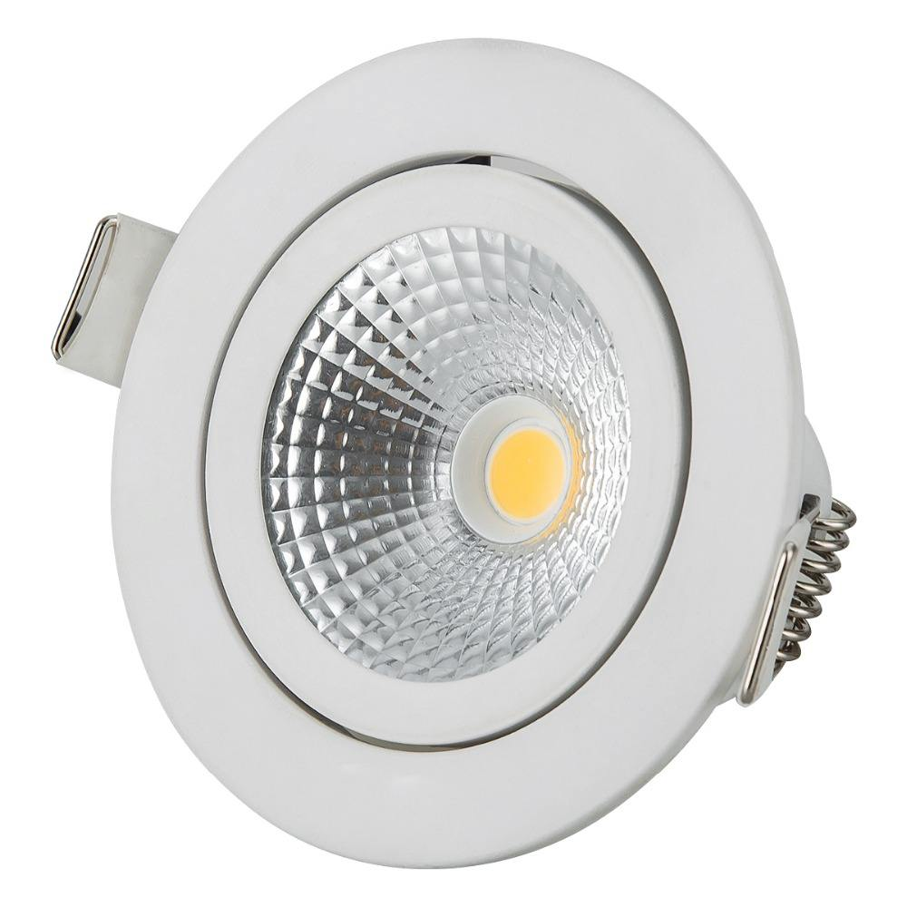 RGBW super slim downlight COB TUV dim to warm light for showroom led dimmable spotlight recess led downlight