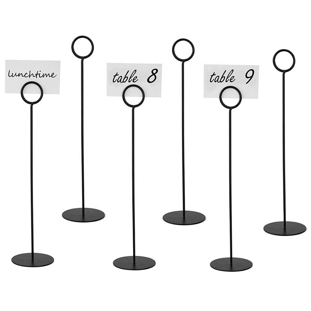 Metal Place Card Stand Table Number Menu Holder