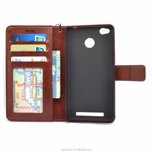 Premium PU Leather ID Slot card flip wallet stand back cover mobile phone case for XiaoMi Redmi 3S Prime