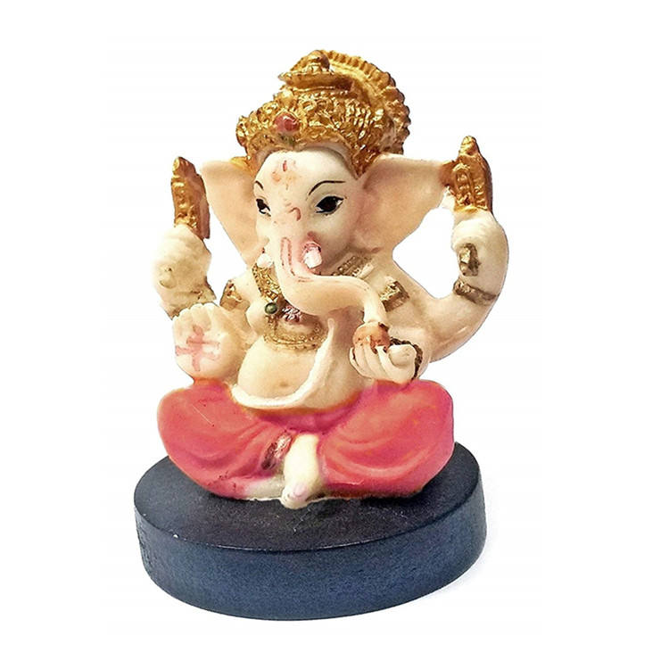 polyresin indian god idols Small Lord Ganesha Hindu Statue Good Luck God Figure