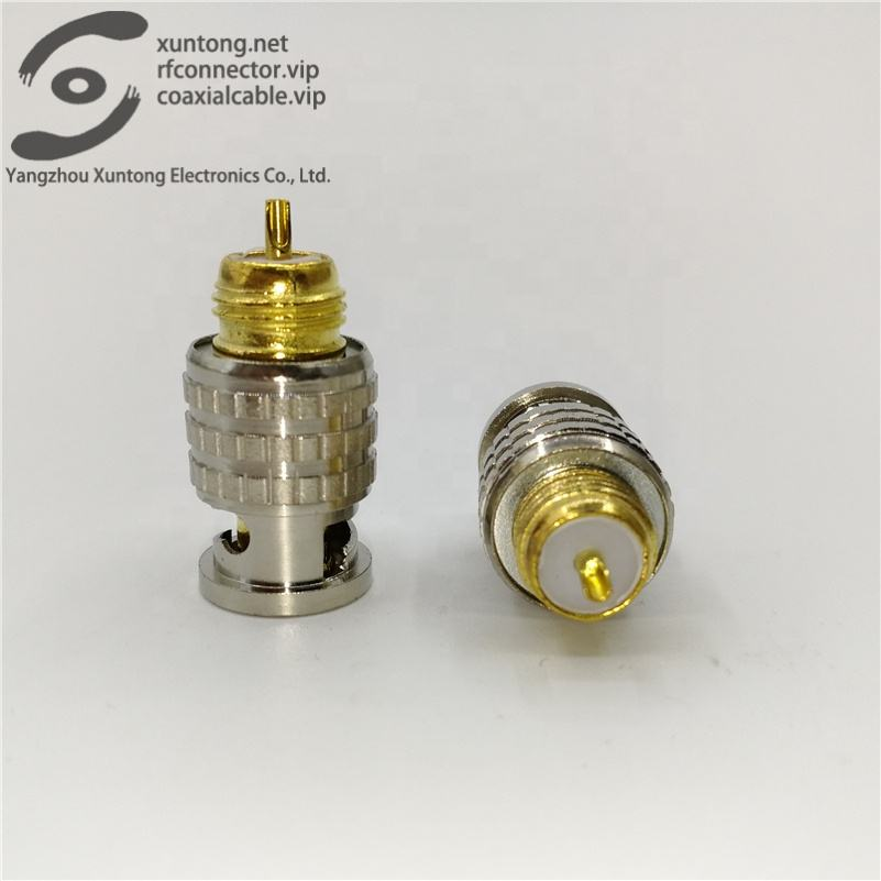 Waterproof 75 ohm BNC video plug Gold plating Q9 male plug-in welding rf coaxial connector (Brass)