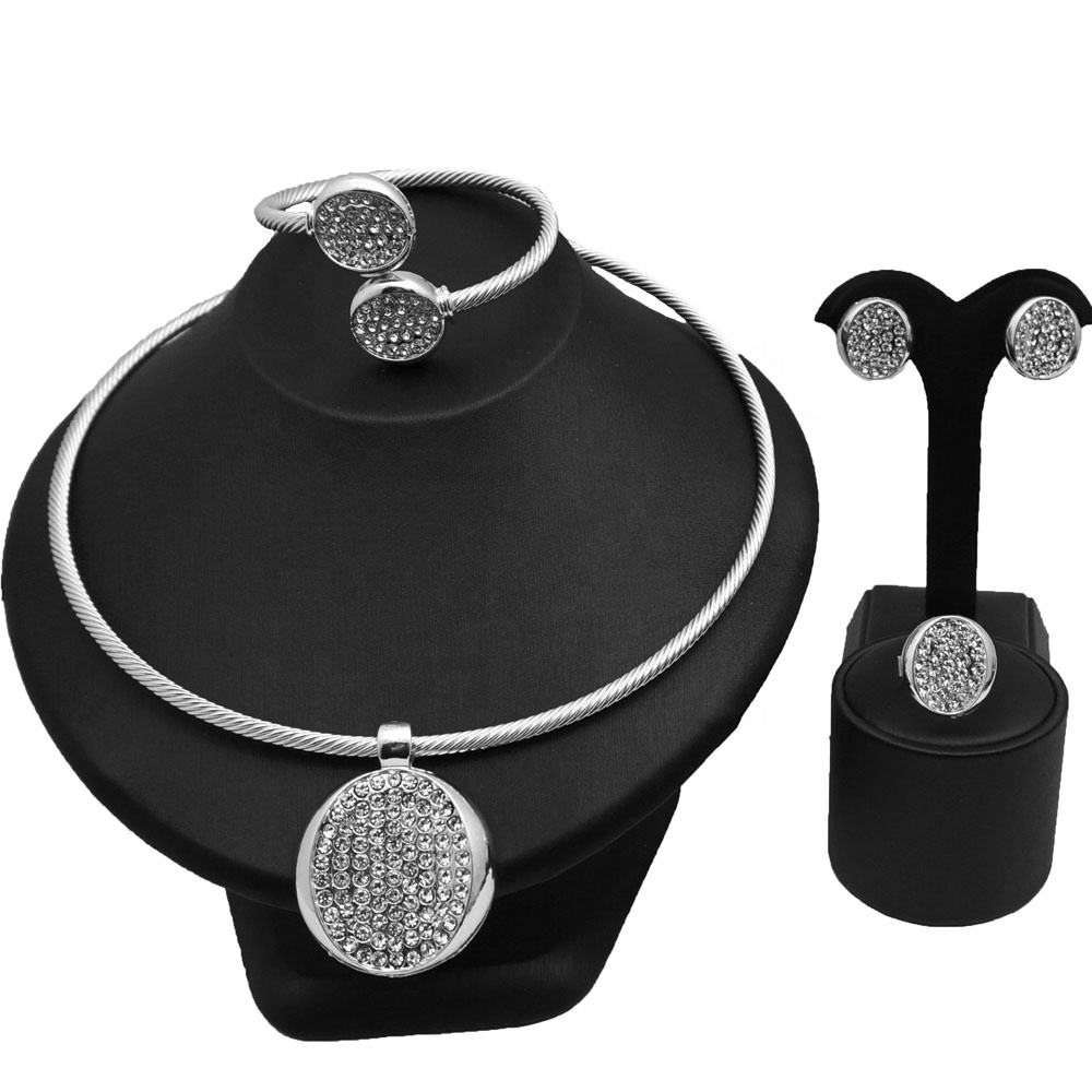 African wholesale jewelry sets necklace indian jewelry for women silver cheap import jewelry from china CJ930-1