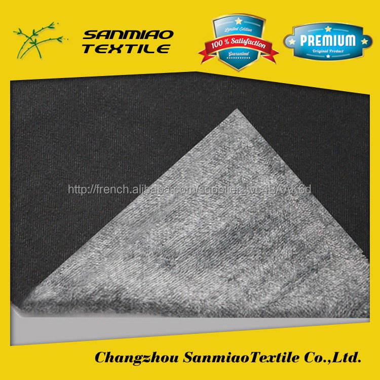 Sanmiao marque top vente à l'exportation brossé pv <span class=keywords><strong>velours</strong></span> en peluche tissu denim tricot WHTP-5001