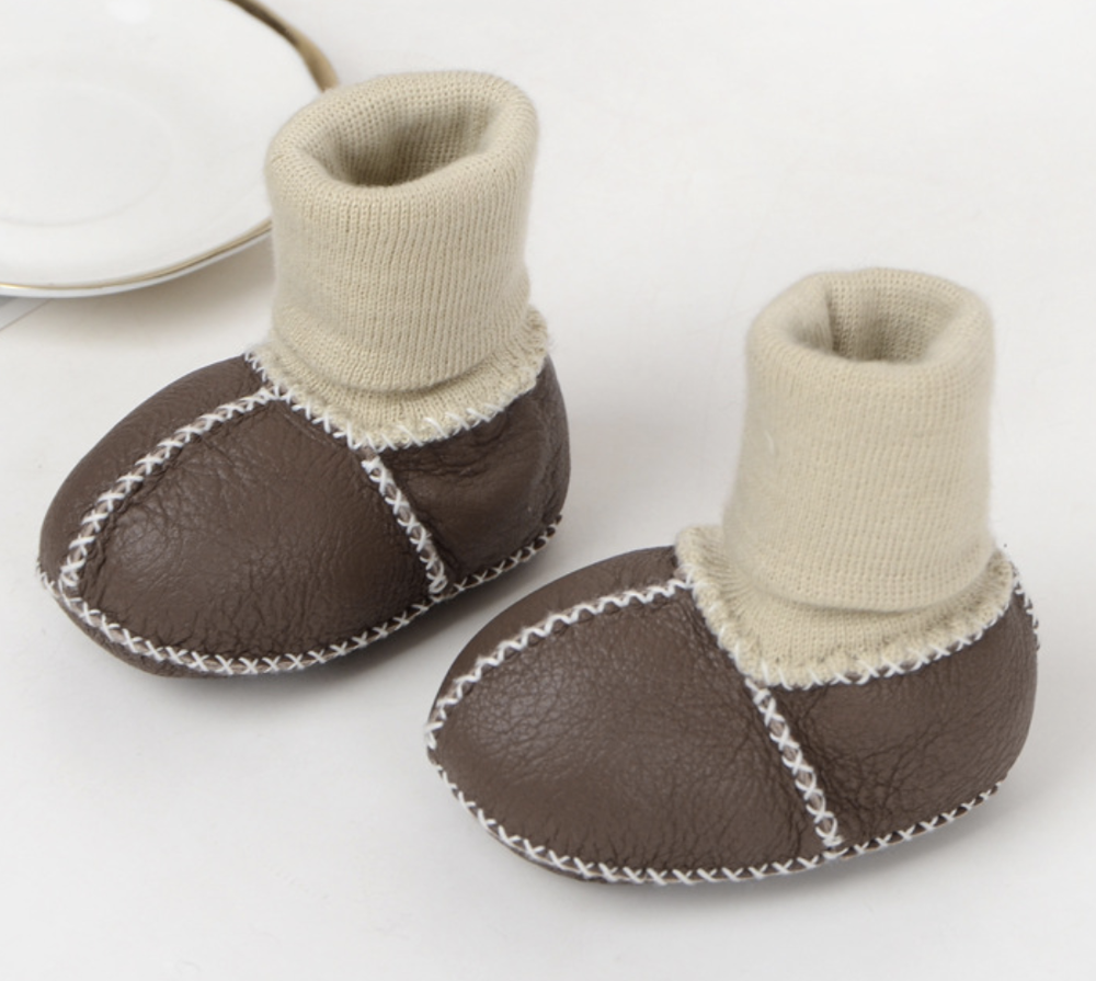 Wholesale Sheep wool kids snow winter children's baby shoes soft sole toddler boots