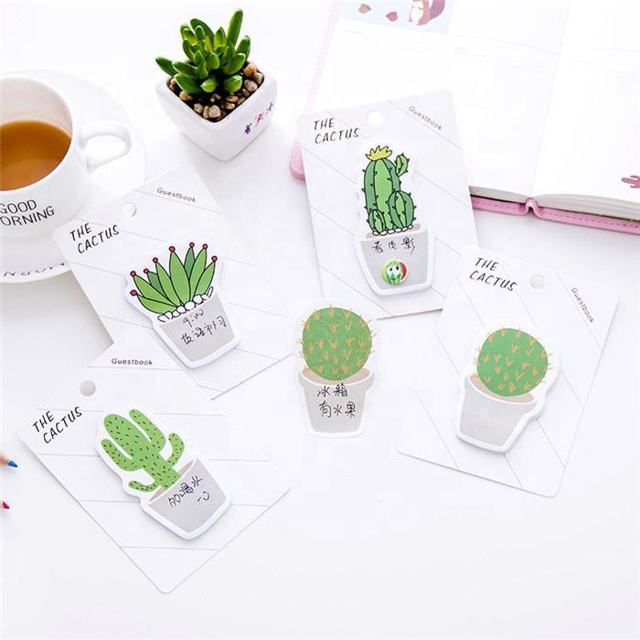 Korean creative stationery cactus sticky notes