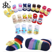 child home animals fruits slipper baby toddlers prewalkers shoes kids non slip rubber sole warm floor socks