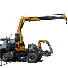 New Knuckle Telescopic Boom 15T Hydraulic Crane for Truck