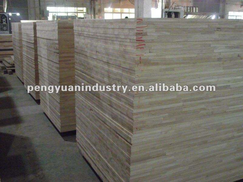 water-proof rubberwood finger joint board used for furniture and interior decoration
