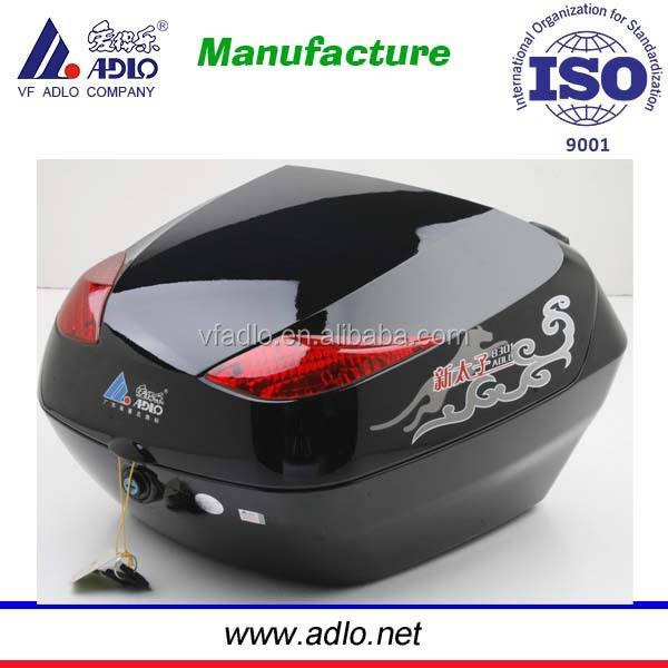 Nero/rosso/argento del motociclo scatola di coda/bagagli