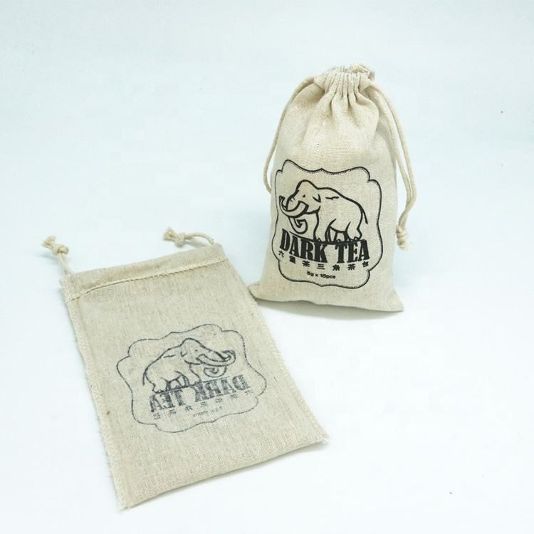 Wholesale Promotional Jute Linen Drawstring Bag gift For Candles