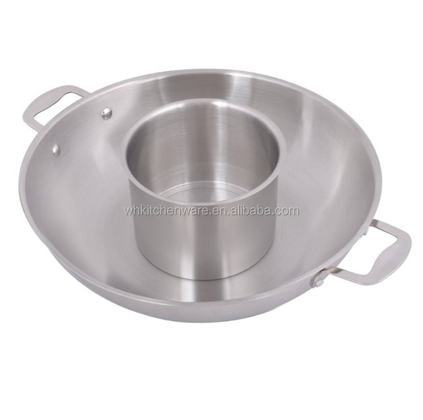 Induction Commercial electric stainless steel hot pot for sale