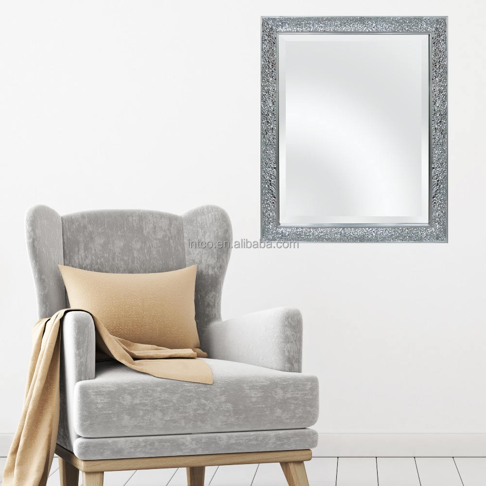 INTCO sliver luxurious decorative beveled mirror frame