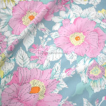 100% Twill Cotton Fabric for Patchwork Quilt Cushions Telas Tedio Sewing Tissue DIY Crafts Tilda Cloth Blue Floral
