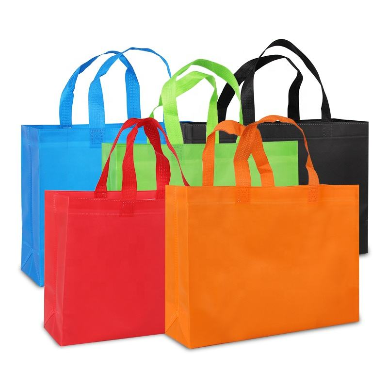 Wholesale Custom Personalized Non woven bag Promotional Reusable Cloth Shopping Tote Bags with Logo