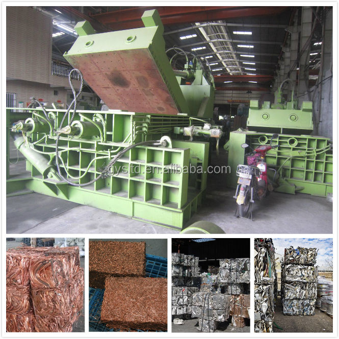 Hot sales waste iron compactor machine used scrap metal baling press machine