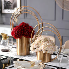 Luxury European wedding table decor centrepiece luxury party decoration center piece stand for flowers accessories vase holder