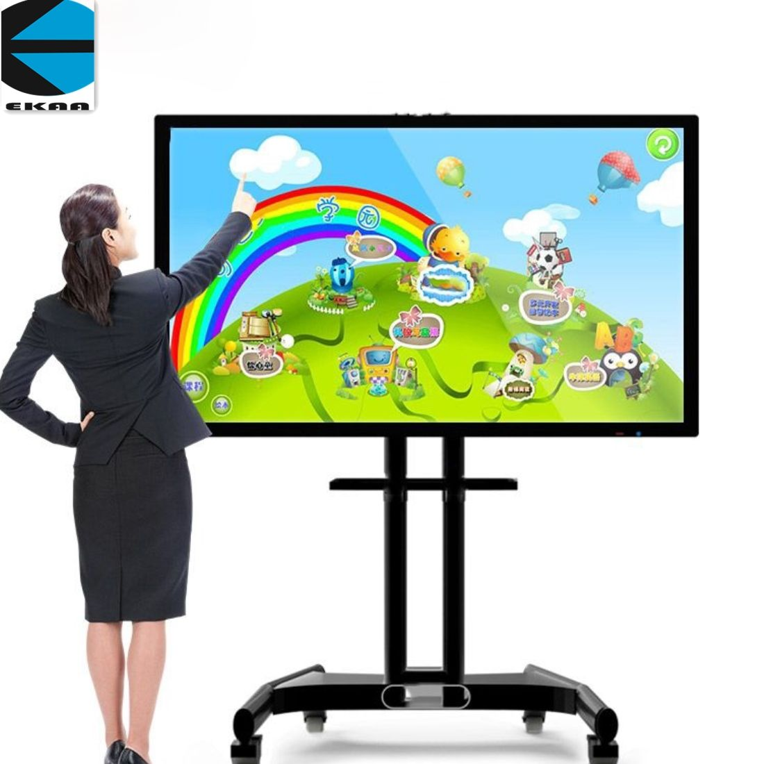 55inch led tv built-pc/full hd touch screen all in one tv pc computer (Camera ,support video conference)