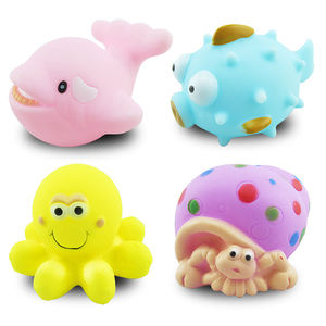 China wholesale cute rubber animal water floating baby bath toy