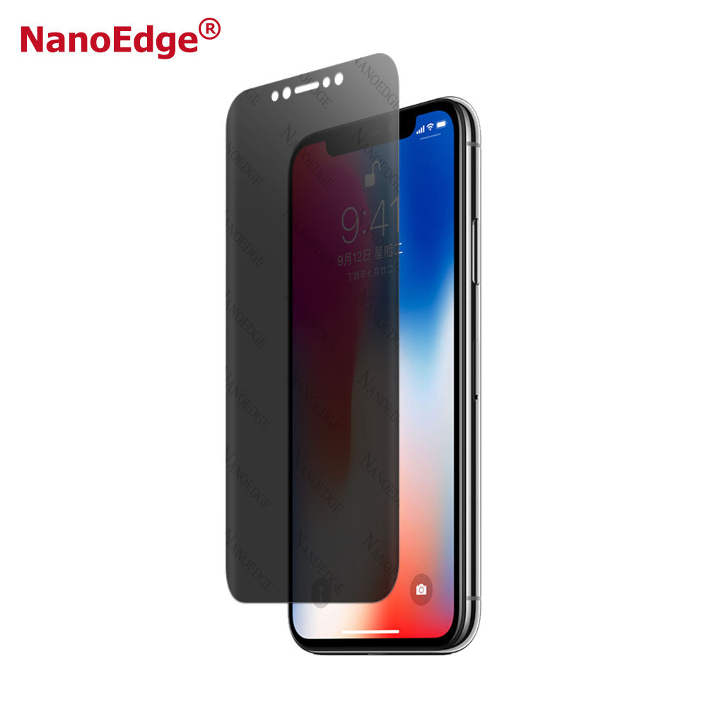 3D Full Size Screen Protector Anti Spy Wet Apply Privacy Screen Film Better Than Tempered Glass For iPhone X
