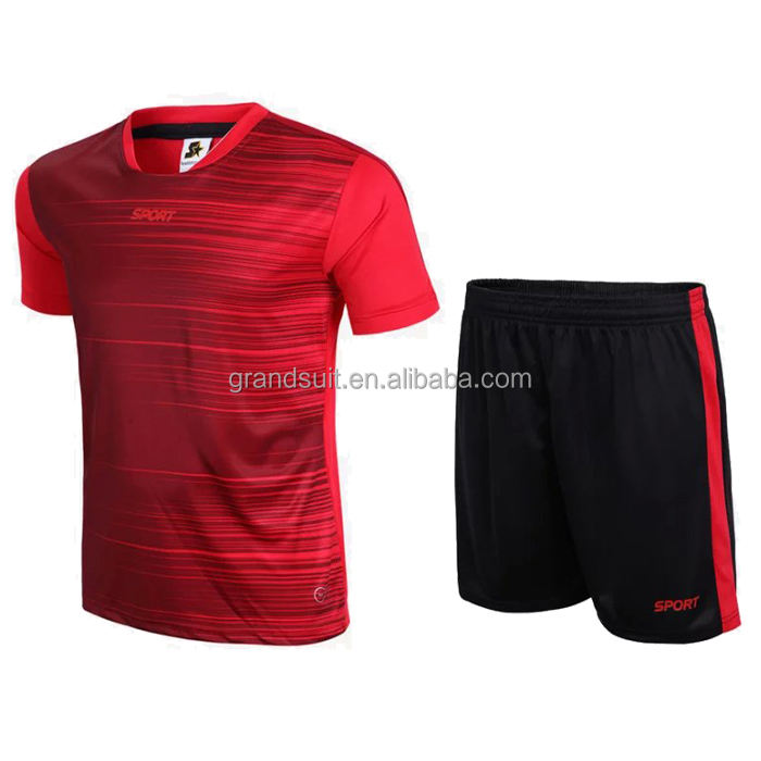 hot selling custom made soccer jersey set blank design cheap football shirt uniform in stock wholesale jersey uniform kits