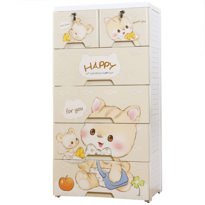 Baby plastic storage drawers cabinet for clothes