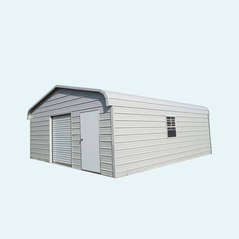 Metal Steel shed/ prefab metal garage building/metal frame garage design